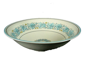 MYOTT Staffordshire China IVY LEAF BLUE pattern COUPE SOUP or CEREAL BOWL 6-1/2""