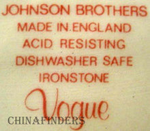 JOHNSON BROTHERS china VOGUE Oval Meat Serving Platter