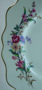 WEDGWOOD china DEVON SPRAYS W4076 pattern OVAL MEAT Serving PLATTER 17""