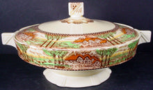 MYOTT Hanley china ENGLAND'S COUNTRYSIDE no trim ROUND COVERED VEGETABLE BOWL