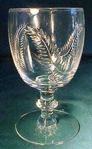 SENECA crystal FEATHER Clear pattern WATER Glass