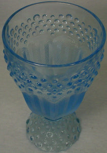 GORHAM crystal EMILY'S ATTIC Blue WATER GOBLET or GLASS 5-7/8""
