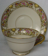MORGAN BELLEEK china VICTORIA pattern CUP & SAUCER Set Cup 2-1/4""