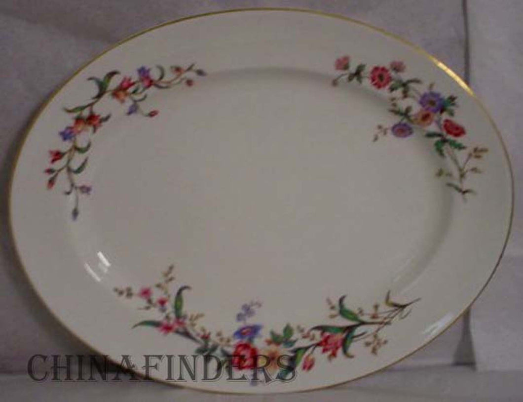 WEDGWOOD china DEVON SPRAYS W4076 pattern OVAL MEAT Serving PLATTER 17