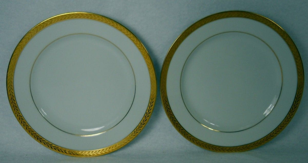 NORITAKE china GOLDREAM Bread Plate - Set of Two (2) - 6-3/8