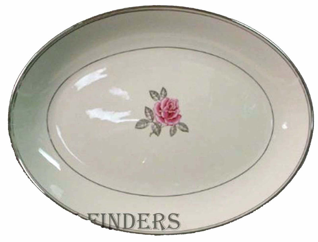 FRANCISCAN china HUNTINGTON ROSE pattern OVAL MEAT SERVING PLATTER 16