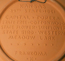 FRANKOMA #13 Display Plate KANSAS State - Bisque @ 8 1/2""