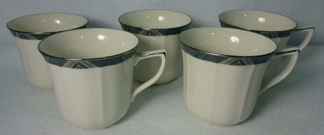 NORITAKE china MIDNIGHT MAJESTY pattern 7295 Cup - Set of Five (5) - NO Saucers