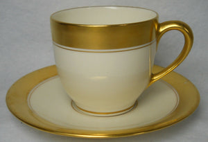LENOX china 86 1/2 pattern Flat Demitasse Cup & Saucer Set #1306 - 2-1/4""