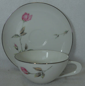STYLE HOUSE china DAWN ROSE pattern Cup & Saucer - Set of Two (2) @ 1-7/8""