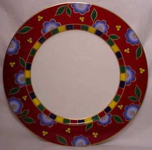 MIKASA china TEA CEREMONY PERSIAN RED A6102 pattern Bread Plate @ 6 5/8""
