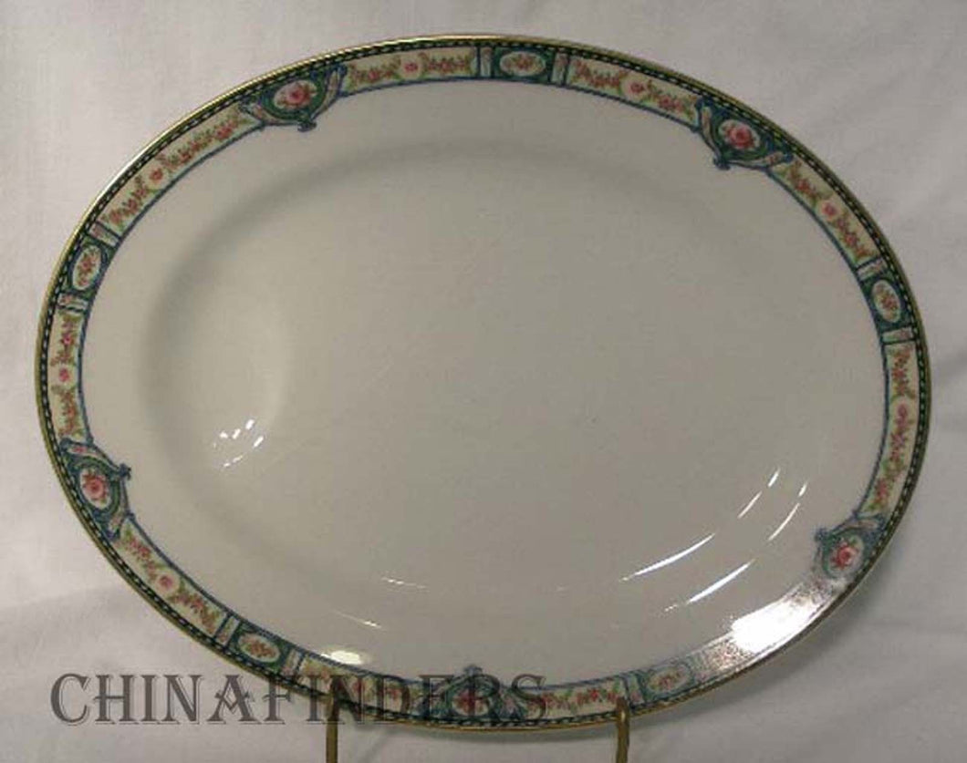 HAVILAND Limoges china SCHLEIGER 344 pattern Oval Serving Platter @ 13-5/8