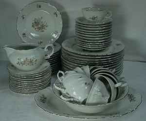WINTERLING Bavaria EMPRESS PLATINUM pattern 63-piece SET SERVICE for Twelve (12)