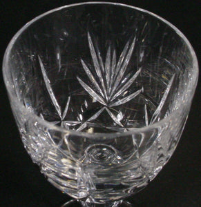 GORHAM crystal CROWN POINT pattern WINE GLASS or GOBLET 6""
