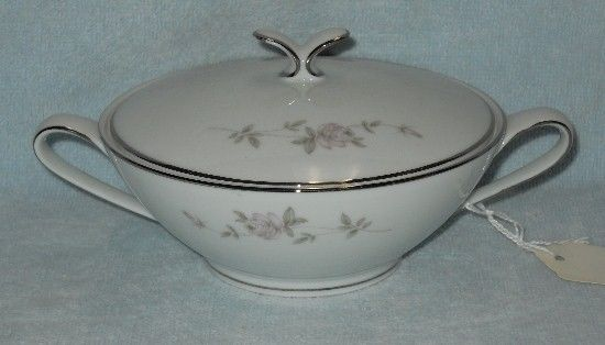 NORITAKE china BELLEMEAD 6314 pattern SUGAR with LID