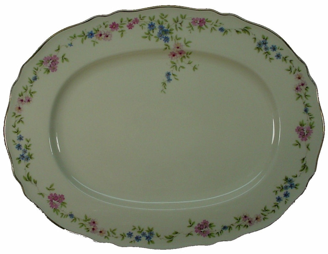 FRANCONIA Krautheim China FLORINA pattern OVAL MEAT Serving PLATTER 15-1/2