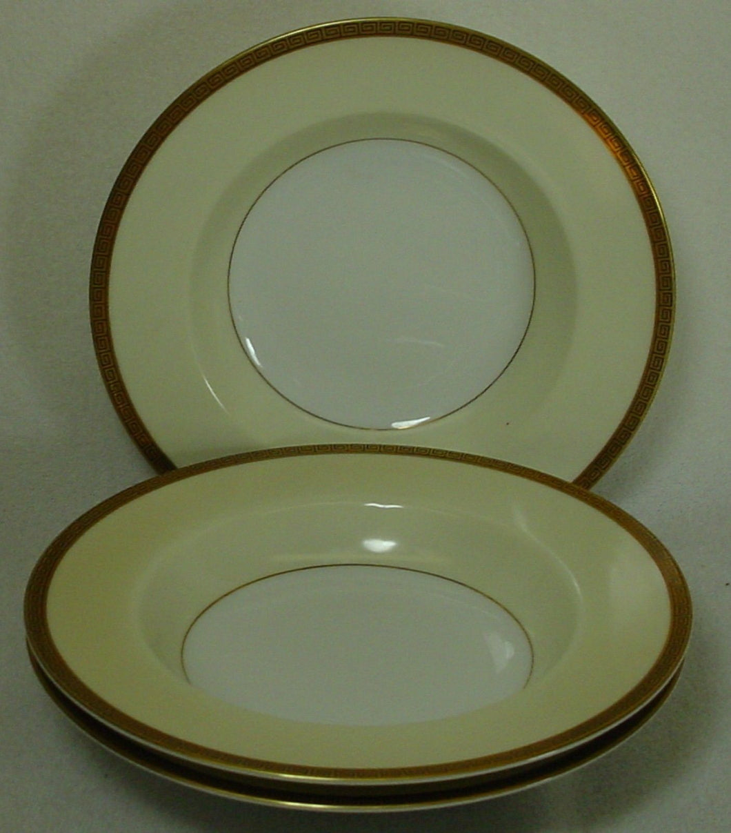NORITAKE china GRACEWOOD 4984 pattern Soup or Salad Bowl - Set of Three @ 8-1/4