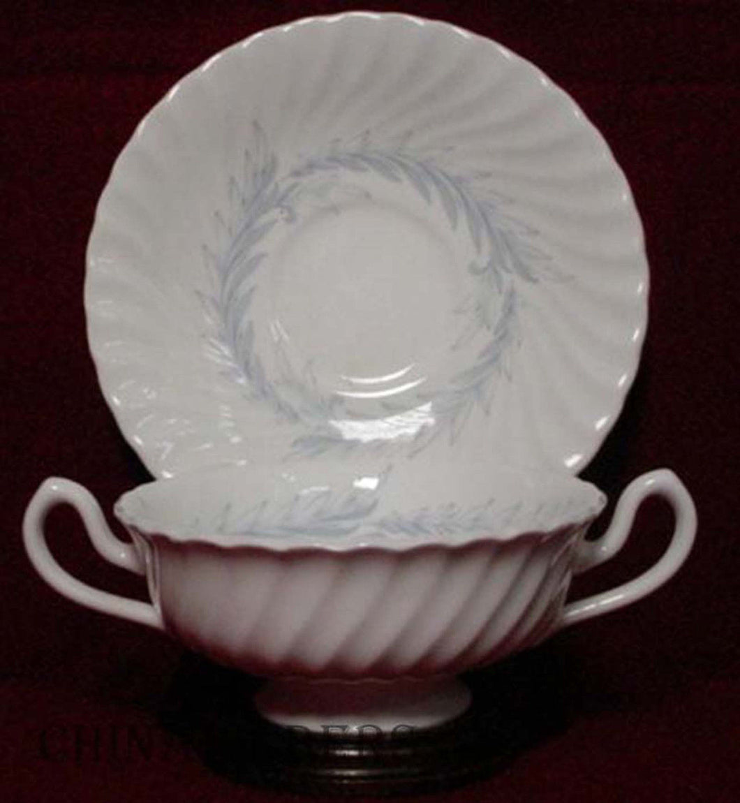 MINTON china SYMPHONY - GRAY S557 Cream Soup and Saucer