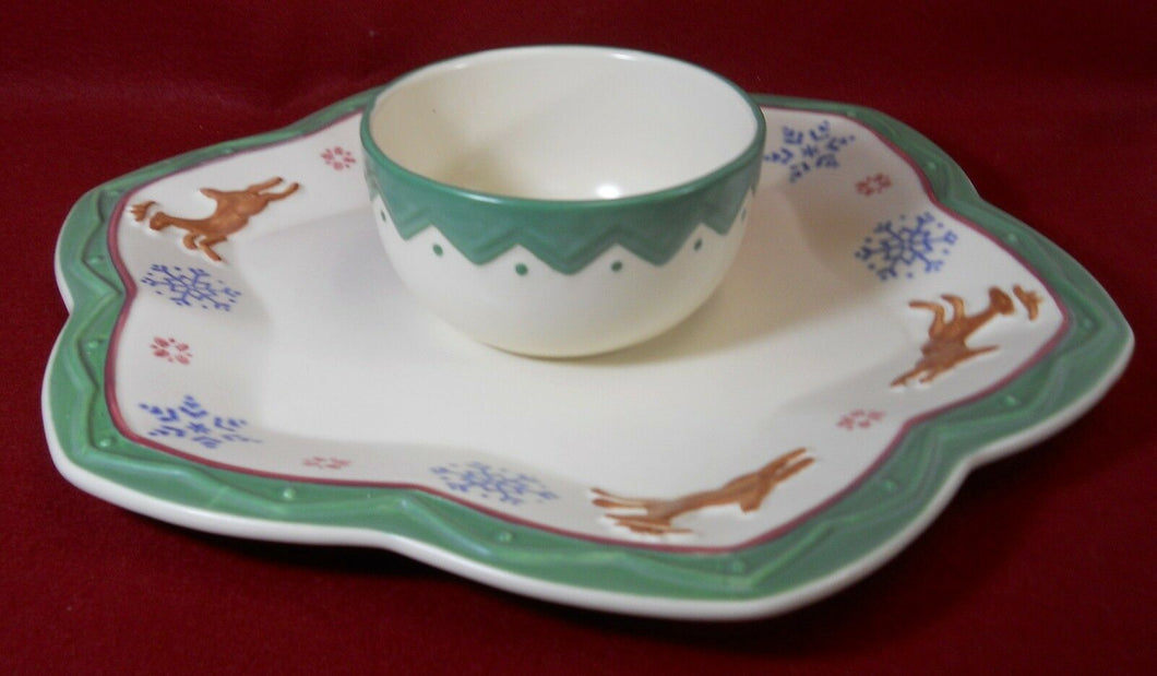 PFALTZGRAFF china NORDIC CHRISTMAS pattern 2-piece Chip & Dip Set - 16
