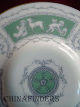 COALPORT china REVELRY-GREEN pattern Demitasse Cup and Saucer