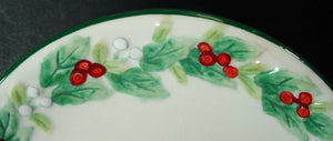 PFALTZGRAFF china WINTERBERRY pattern EMBOSSED SIDE DISH 6""