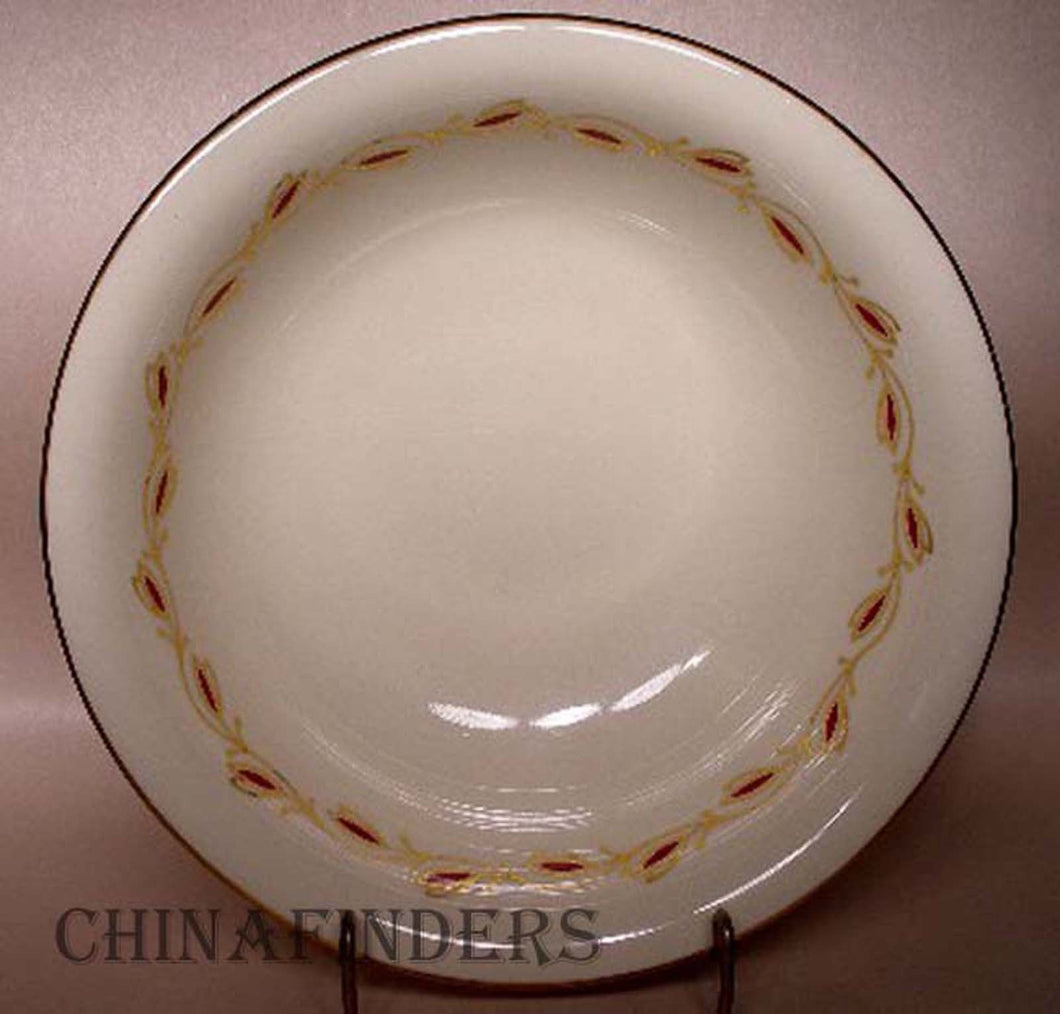 PICKARD china SYMPHONY-RED 1077 pattern Round Vegetable Serving Bowl @ 9-1/4