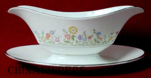 OXFORD LENOX china COUNTRY LANE pattern GRAVY BOAT