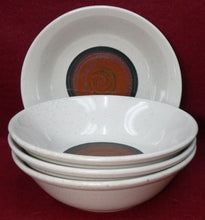 "MIKASA china SHIBUI PF018 pattern COUPE CEREAL SOUP BOWL 6-3/4"" Set of FOUR (4)"