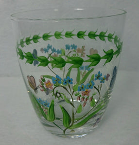 PORTMEIRION china BOTANIC GARDEN 14-oz Double Old Fashioned FORGET-ME-NOT 4-1/4""