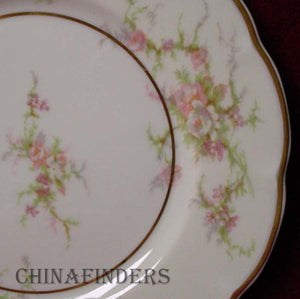 "HAVILAND china ROSALINDE France BREAD PLATE 6-1/4"" Lutece Shape"
