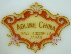 "ADLINE china DRESDEN ROSE pattern ADL6 Cup & Saucer Set - 2-1/4"" Gold Nip"