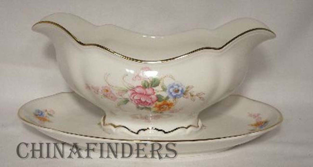 HUTSCHENREUTHER china THE EATON 7622 pattern Gravy Boat
