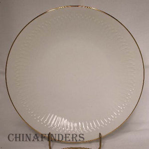 HUTSCHENREUTHER china LUXOR-GOLD pattern Dinner Plate @ 9-3/4""
