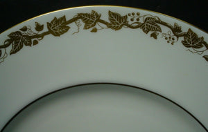 "WEDGWOOD china WHITEHALL WHITE W4001 pattern DINNER PLATE 10-3/4"" scratches"