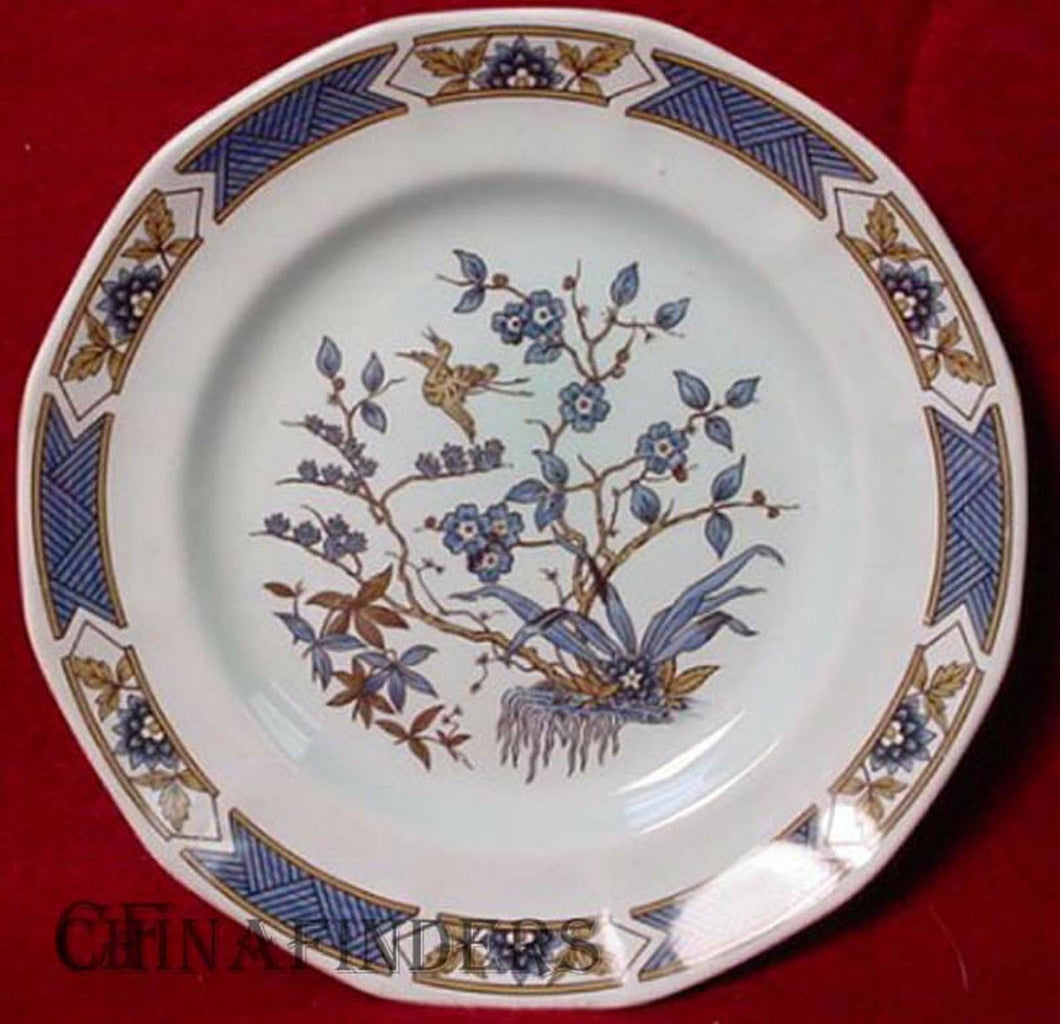 ADAMS china MING TOI - BLUE pattern Salad Plate 8-1/4