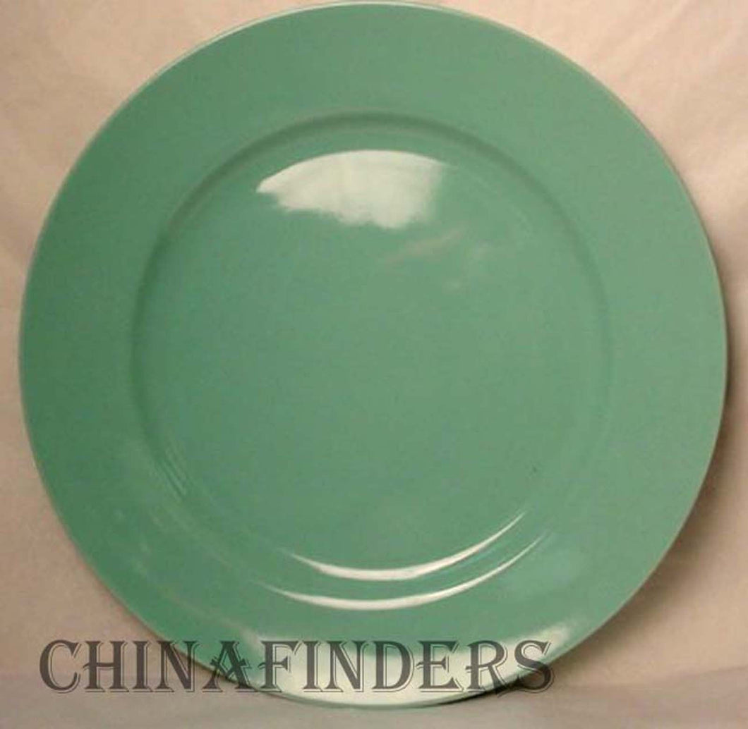 FITZ & FLOYD china TOTAL COLOR SPECTRUM TURQUOISE Set 2 Dinner Plates @ 10 1/4