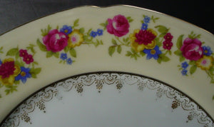 "GOLD CASTLE china HOSTESS pattern LUNCHEON PLATE 8-7/8"" set of FOUR HostessStamp"