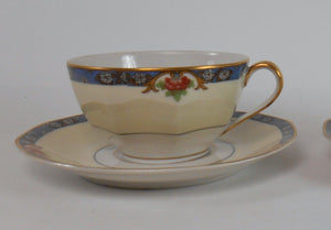 HAVILAND china LANGEAIS France 12-piece LOT 3 cup saucer salad plate bread plate