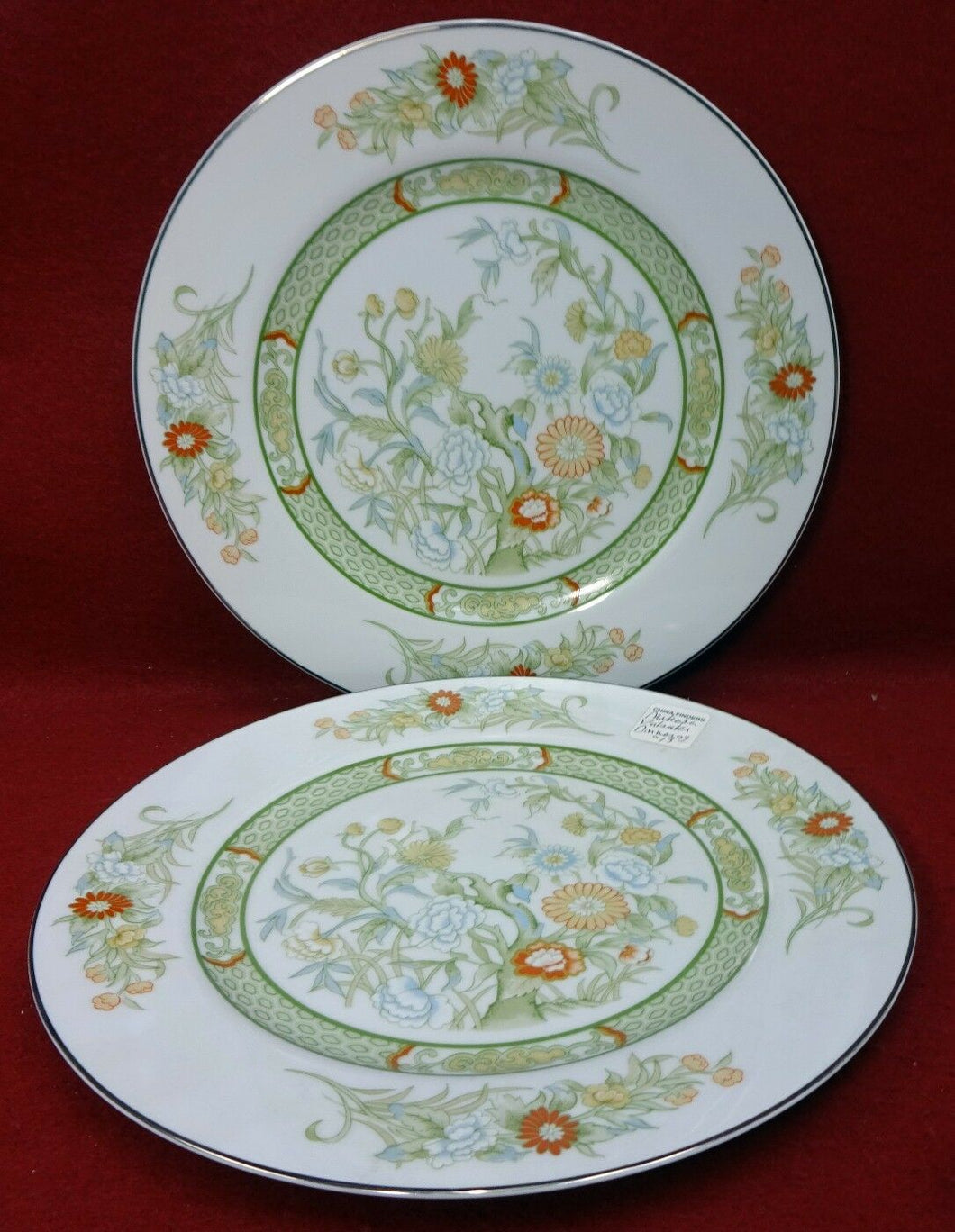 MIKASA china KABUKI L9011 pattern Dinner Plate - Set of Two (2) - 10 5/8