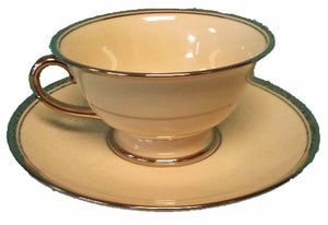 FRANCISCAN china HUNTINGTON pattern CUP & SAUCER Set