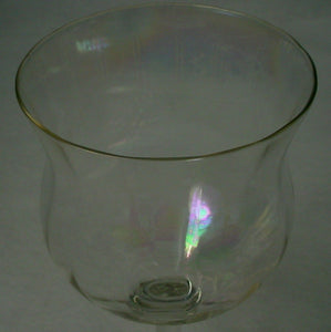 UNKNOWN Manufacturer crystal IRIDESCENT OPTIC unk11460 Set of 8 Water Goblets