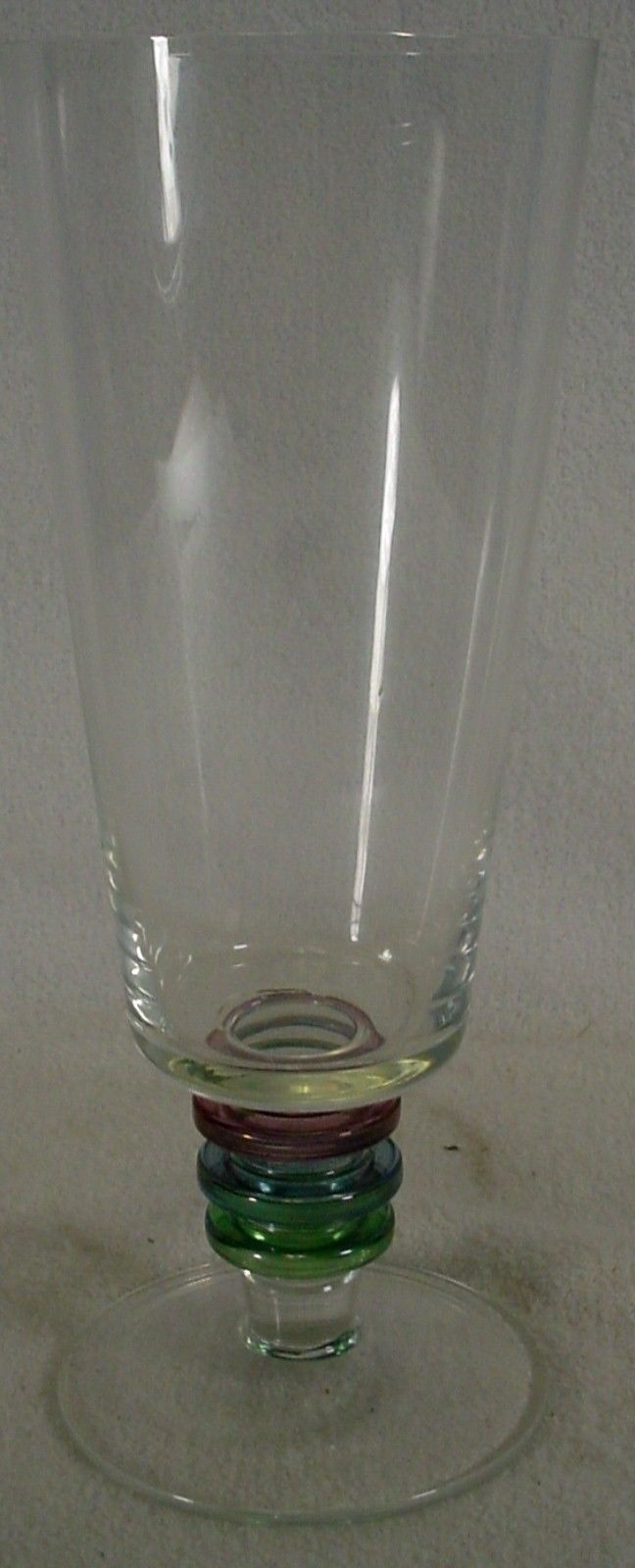 BLOCK crystal CARNIVAL pattern ICED TEA Glass or Goblet 7-3/4