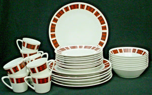 STYLE HOUSE china BRIGADOON Yamaguchi 38-pc SET SERVICE for 8 (-1 dp; -1 sau)