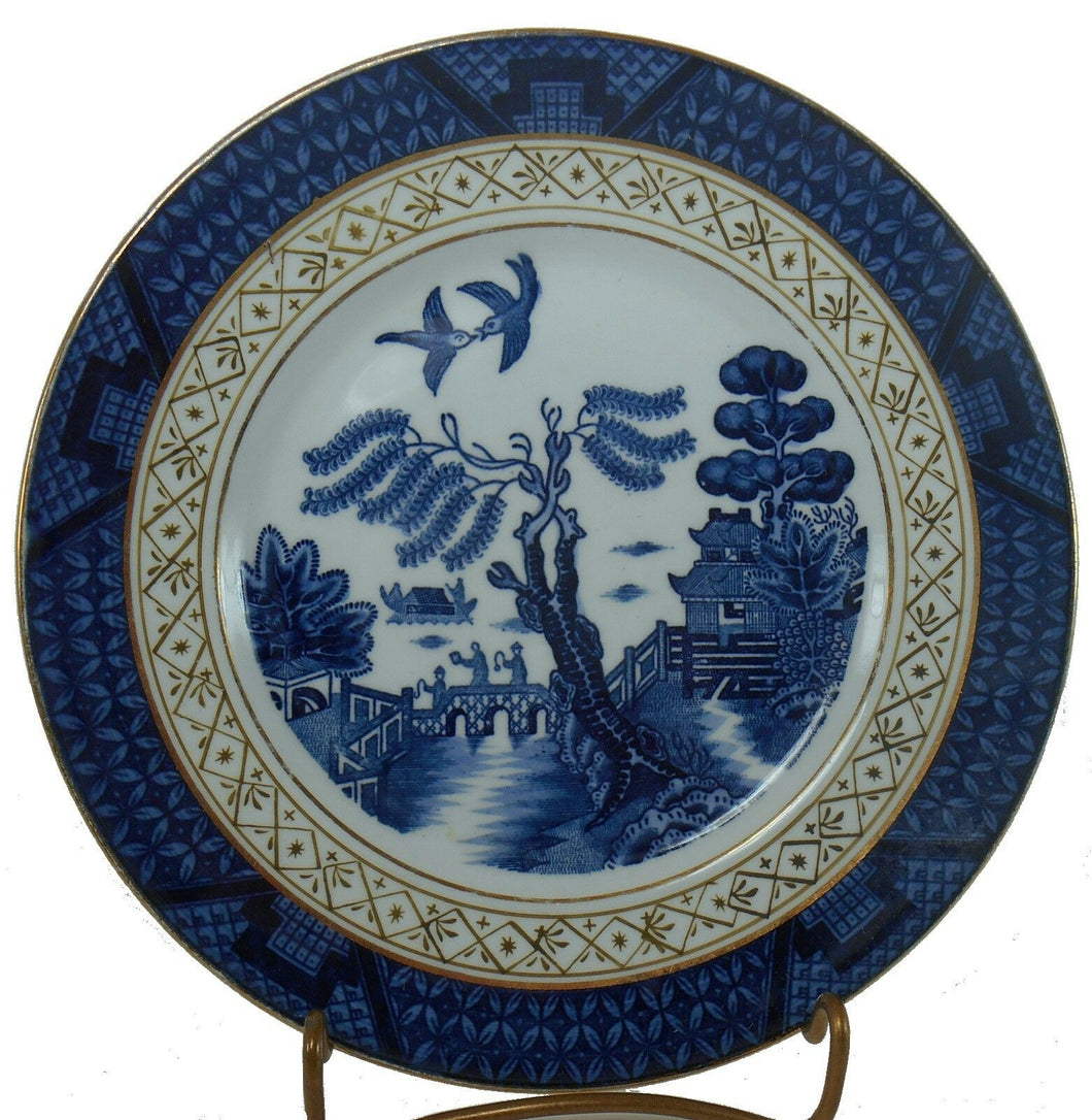 NIKKO china BLUE WILLOW pattern Salad or Dessert Plate - 7-1/4
