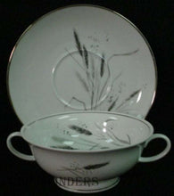 "ROSENTHAL china pattern 3182 ""PLATINUM WHEAT"" Cream Soup Bowl & Saucer Set"