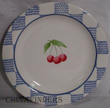 PFALTZGRAFF china HOPSCOTCH FRUIT Set of Two (2) Salad Plates - Cherries