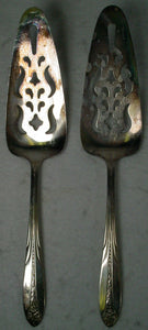 NATIONAL silver co. PRINCESS ROYAL 1930 silverplate PIE/PASTRY SERVER Set of 2