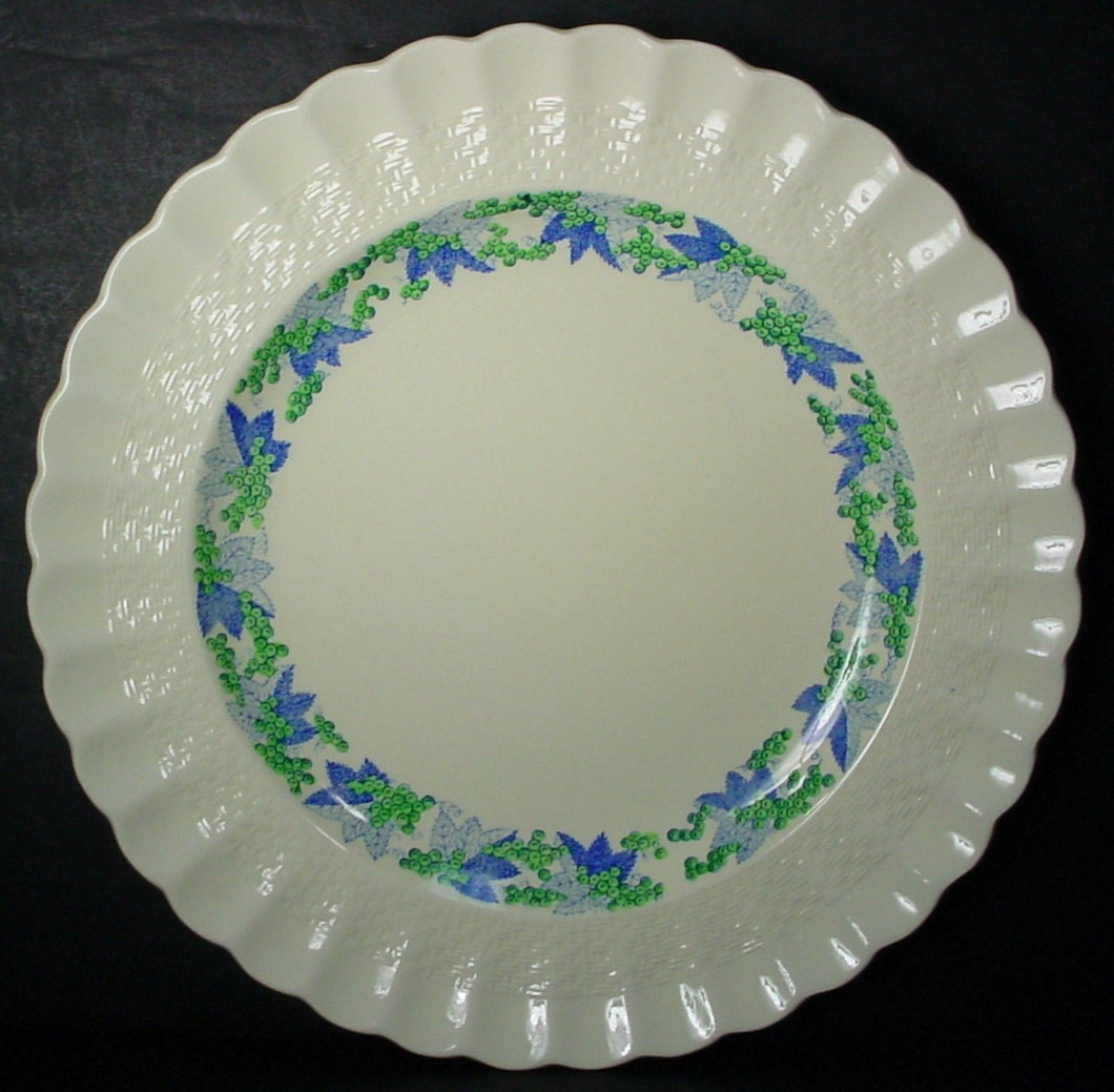 SPODE china VALENCIA S/1248 Blue/Green DINNER PLATE 10-1/2