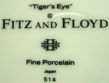 FITZ & FLOYD china TIGER'S EYE pattern Charger/Service Plate @ 12 1/4""