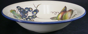 PIER 1 china MACINTOSH pattern PASTA SERVING BOWL 11-3/4""
